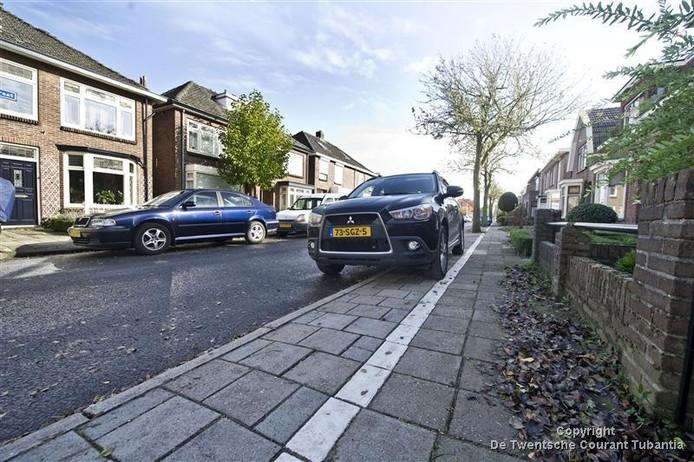 Bewoners aan de Hagedoornstraat kunnen straks parkeren op het trottoir.