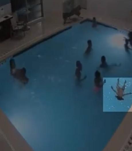 Politie VS deelt beelden van meisje (9) dat peuter van verdrinkingsdood redt