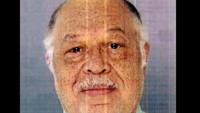 De veroordeelde arts Kermit Gosnell op een foto die beschikbaar is gesteld door het Openbaar Ministerie.