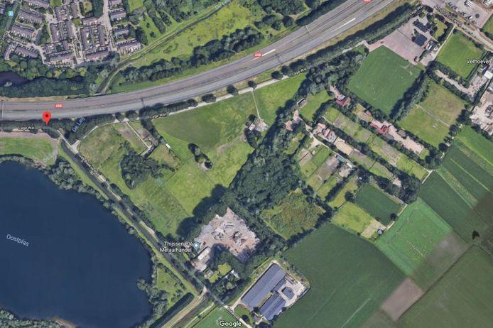 Het gebied rond de Lage Wal dat ook wel Bakertand-Oost wordt genoemd met links in beeld de Oostplas.