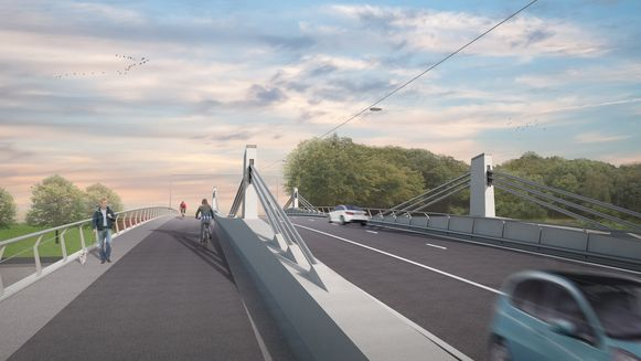 Toekomstbeeld van de nieuwe Bergwijkbrug.