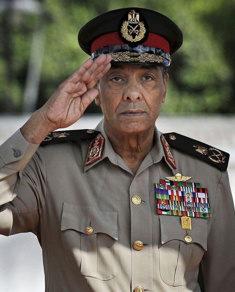 Voormalig minister van Defensie, Mohammed Hussein Tantawi. Beeld ap