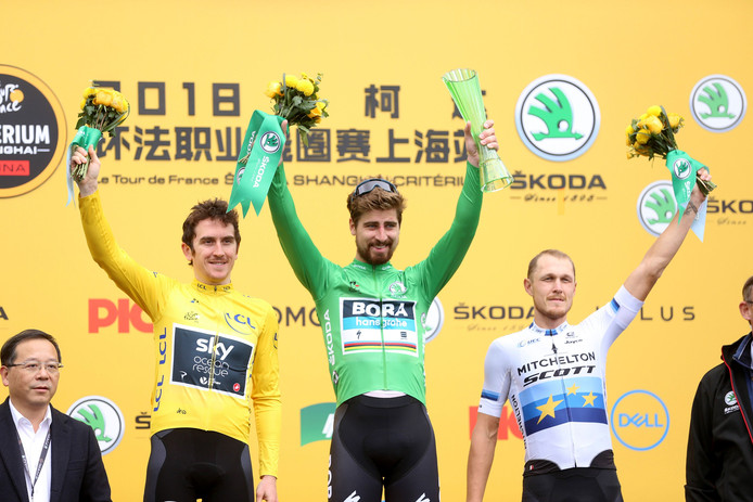 Peter Sagan in het midden.