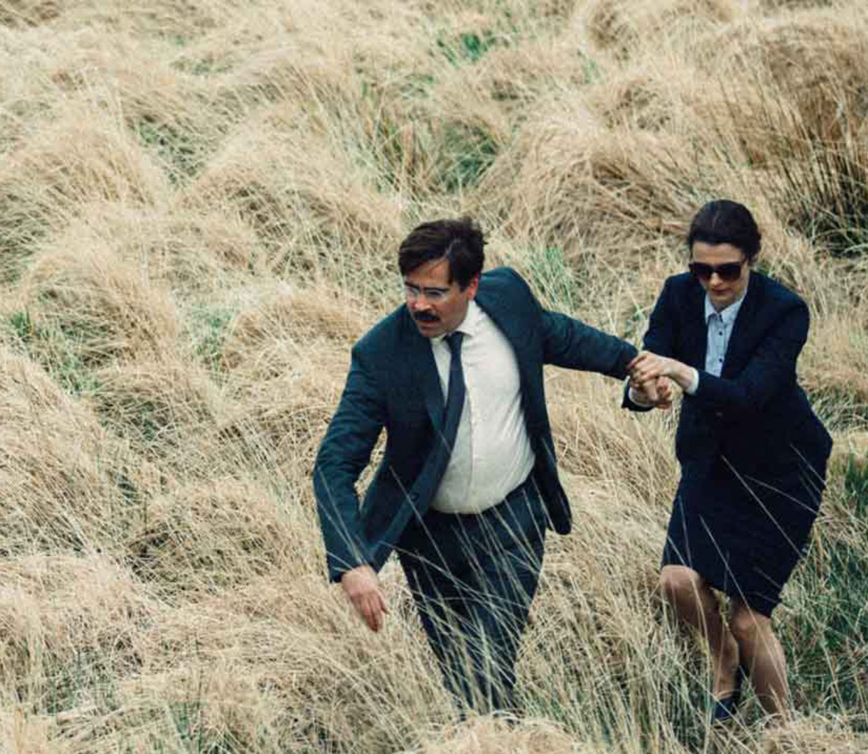 Colin Farrell en Rachel Weisz in The Lobster (Yorgos Lanthimos, 2015). Beeld null