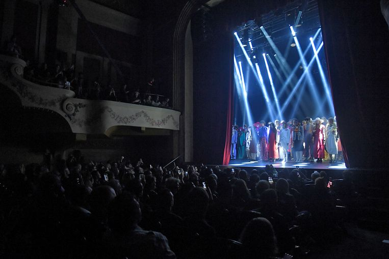 De show van Gucci in Le Palace te Parijs.   Beeld The Washington Post/Getty Images