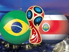 LIVE: Statistieken laten Costa Rica kansloos tegen Brazilië