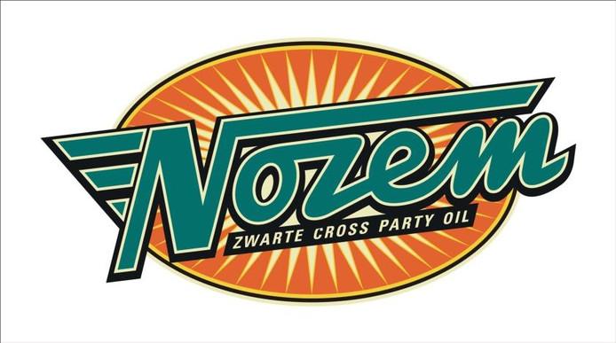 Het logo van Nozem Zwarte Cross Party Oil, het eigen drankje van het festival. foto PR