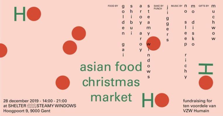 De Aziatische kerstmarkt biedt Aziatisch geïnspireerd eten, drinken, geschenken en muziek.