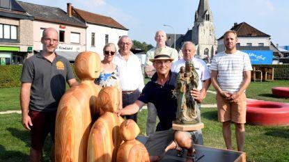 Nieuw erfgoedbeeld in dorpskom is moderne interpretatie van Sint-Anna te Drieënbeeld