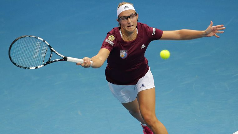 Kirsten Flipkens had geen verhaal tegen de Servische Ana Ivanovic.