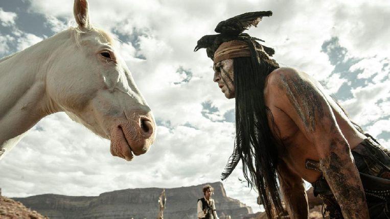 Johnny Depp in The Lone Ranger. Beeld