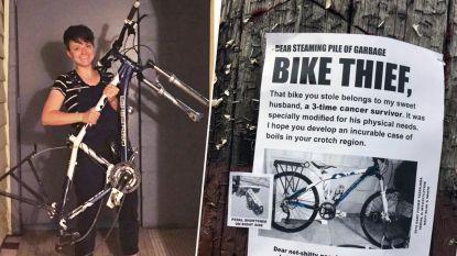 """""""Ik hoop dat je steenpuisten in je kruisstreek krijgt"""": woedende vrouw van kankeroverlever krijgt gestolen fiets terug na opvallend posterpleidooi"""