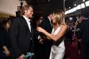 Brad Pitt en Jennifer Aniston liepen elkaar tegen het lijf.