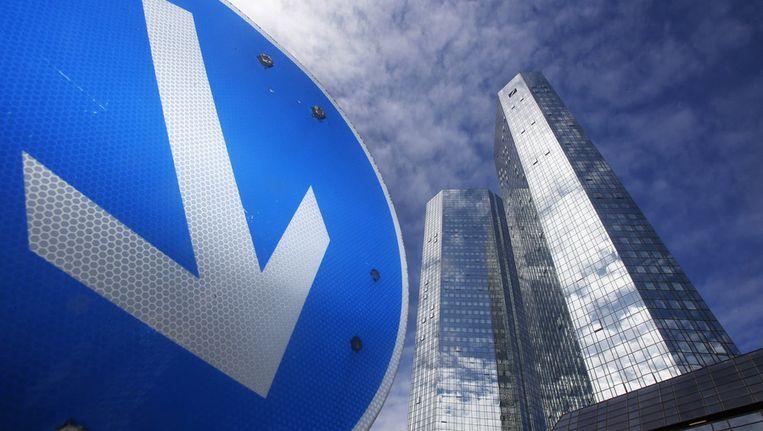 Hoofdkantoor Deutsche Bank in Frankfurt Beeld ap