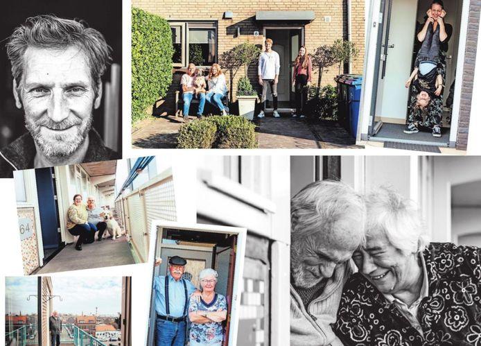 Collage portretten Joyce Huis