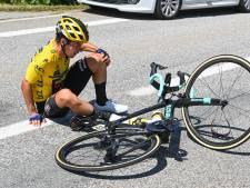 Klassementsleider Roglic niet meer van start in Dauphiné na val gisteren
