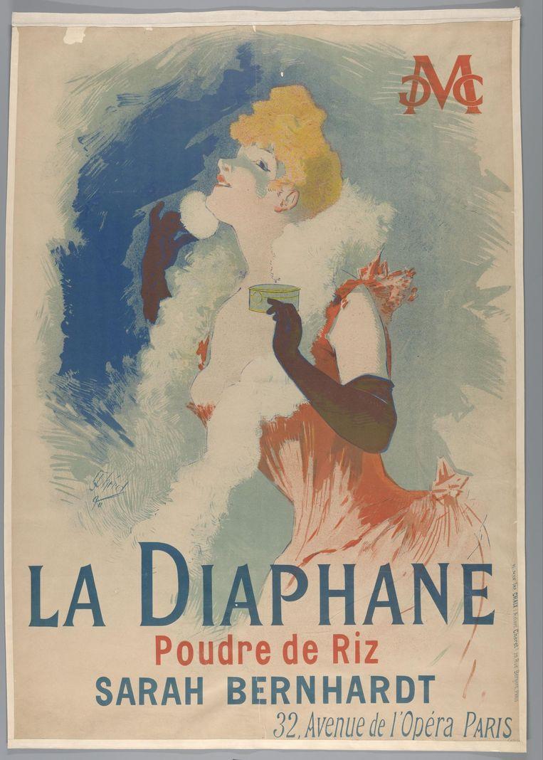 Jules Chéret, La Diaphane Poudre de Riz, 1890. Beeld Rijksmuseum
