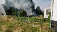 Tuinafval vat vuur: blussen blijkt geen sinecure