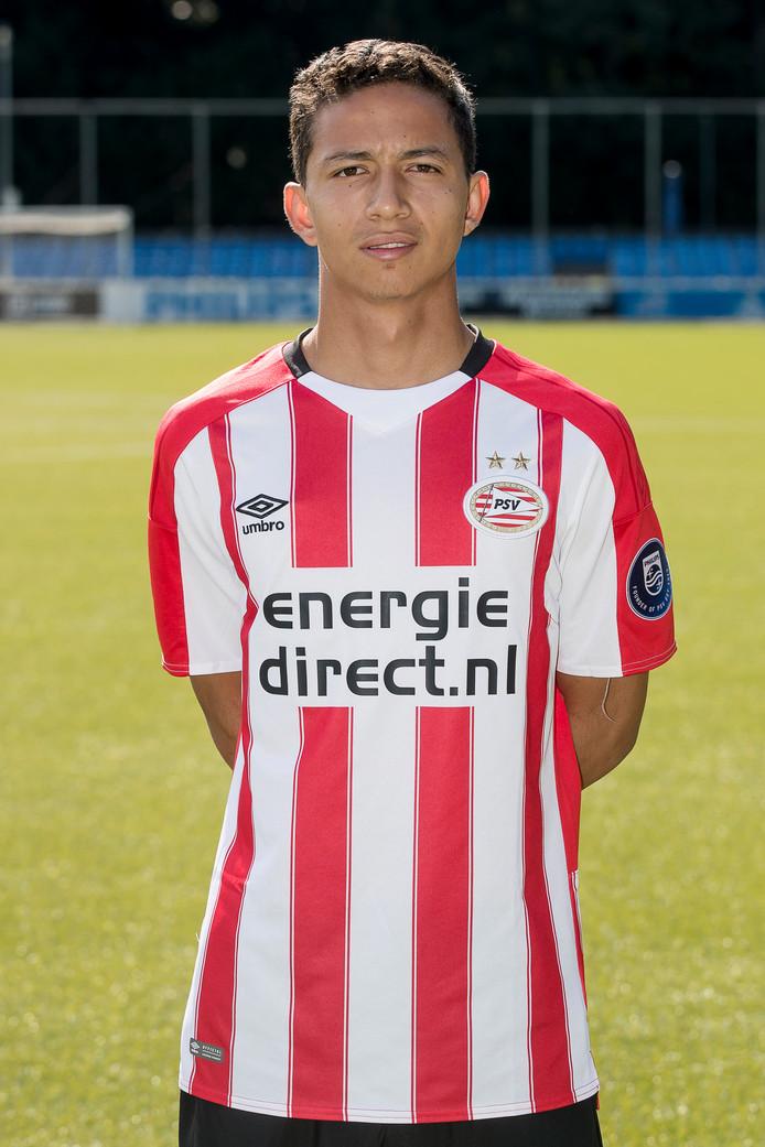 Mauro Junior op de persdag van PSV.