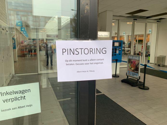 Pinstoring bij AH XL in Tilburg.