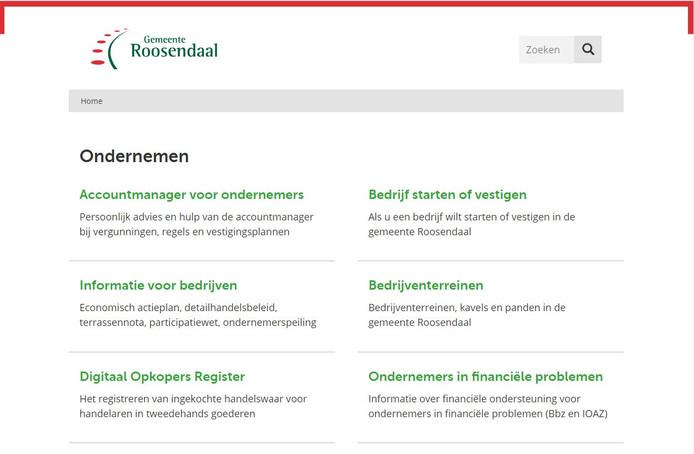 De website van de gemeente Roosendaal is saai en de informatie is achterhaald, zegt de Roosendaalse Lijst.