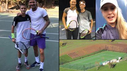 """""""Ze willen hem de David Beckham van het tennis maken"""": David en vooral vrouw Victoria Beckham hebben grootse plannen met zoon Romeo (en het mag wat kosten)"""