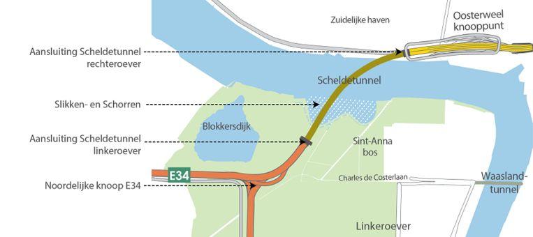De nieuwe Scheldetunnel zal in 2027 klaar zijn.