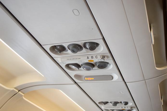Air conditioning in het vliegtuig.
