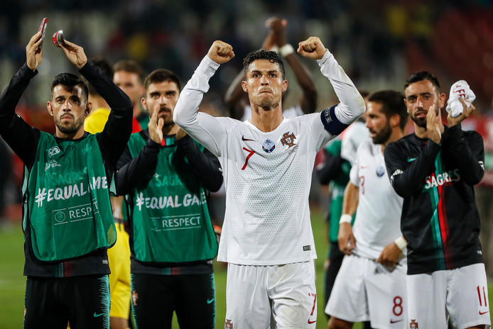 Cristiano Ronaldo, de captain van Europees kampioen én Nations League-winnaar Portugal.