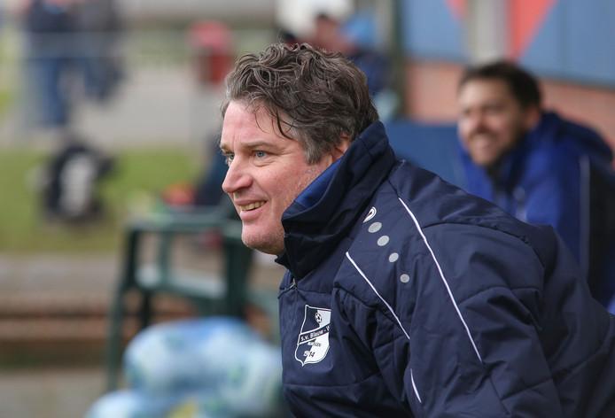 Trainer Erik-Jan Demming van Blauw Wit.