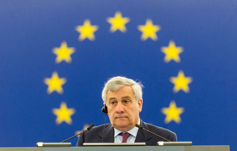 Parlementsvoorzitter Antonio Tajani.