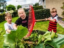 Kinderen Leimuiden klussen voor nieuw schoolplein: 'Met een zwembad en achtbaan'