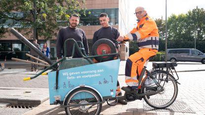 Met de bakfiets naar de werf: stad richt fiets- en voetpadenteam op