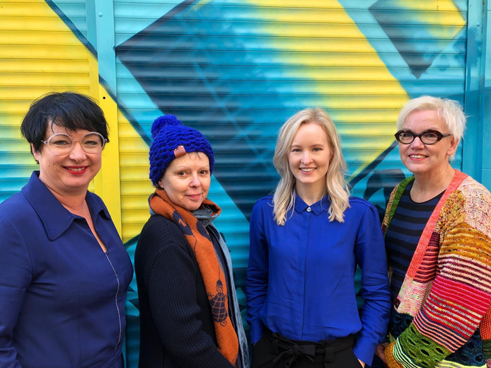 Vier van de vijf initiatiefnemers. Vlnr: Karin van Oosten, Map Renes, Janneke Honings en Renée van Cootwijk