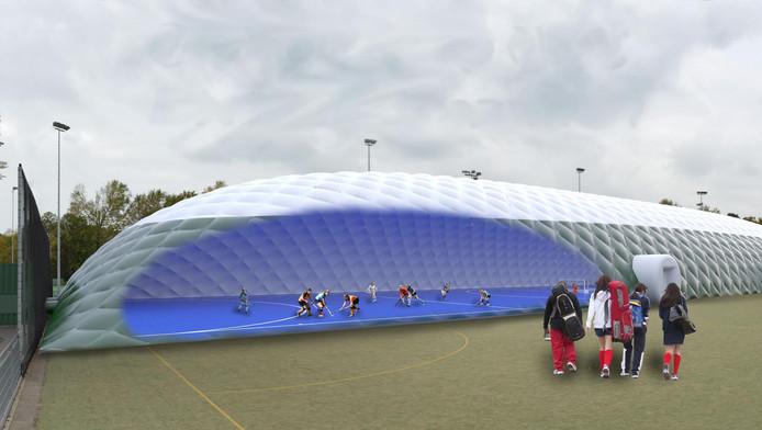 Zo komt de zaalhockeyhal van HGC er uit te zien.