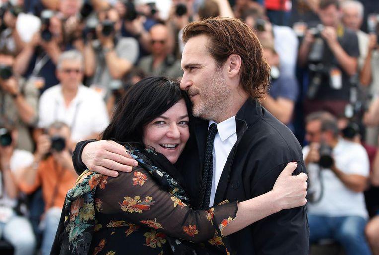 Lynne Ramsay met Joaquin Phoenix Beeld epa