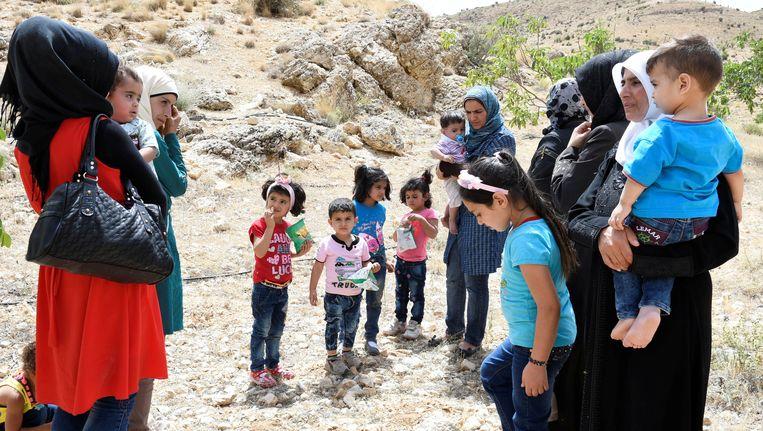 Syrische vluchtelingen hebben het kamp in Libanon verlaten en zijn teruggekeerd naar Syrië.