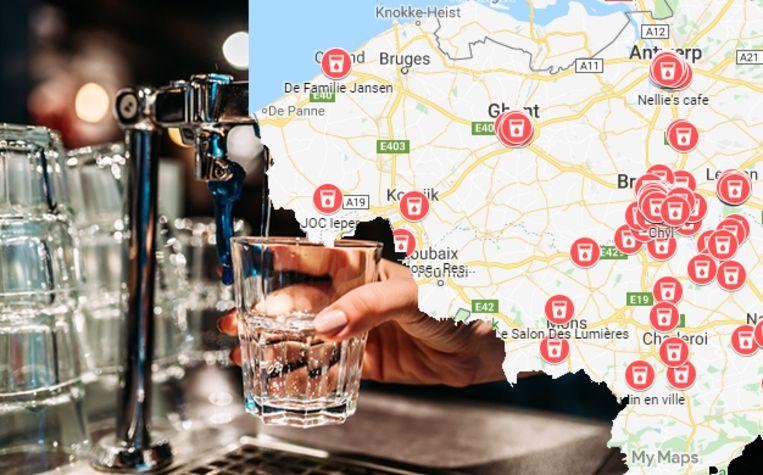"""""""Free Tap Water in Belgian Restaurants"""" vraagt  restaurants om klanten de keuze te bieden: water uit flessen of gratis kraanwater."""