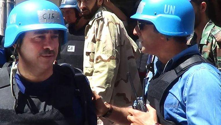 Inspecteurs van de Verenigde Naties aan het werk in Syrië Beeld ap