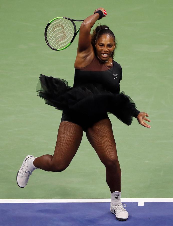 Serena Williams in haar US Open-outfit.