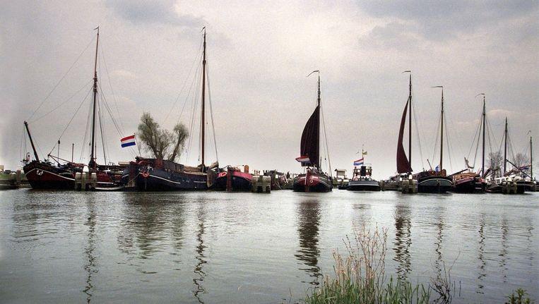 Historische scheepvaart in de Afgedamde Maas. Beeld anp