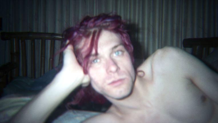 Kurt Cobain in de documentaire Kurt Cobain: Montage of Heck. Beeld .