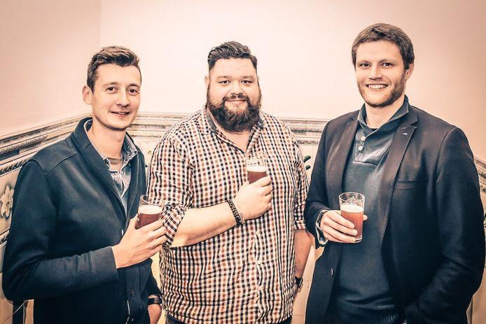 Bert Mattijs, Roeland Rypens en Tim Breemersch van Beer Awards.