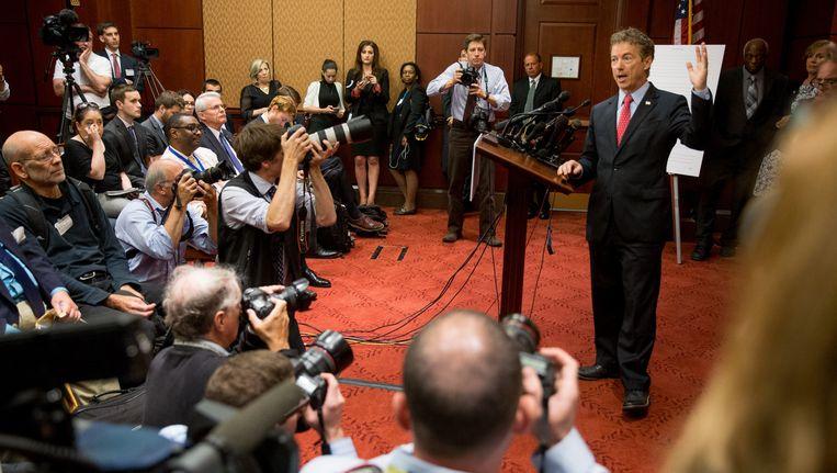 Het was de Republikeinse senator Rand Paul, die de nieuwe afluisterwetgeving (tijdelijk) blokkeerde.