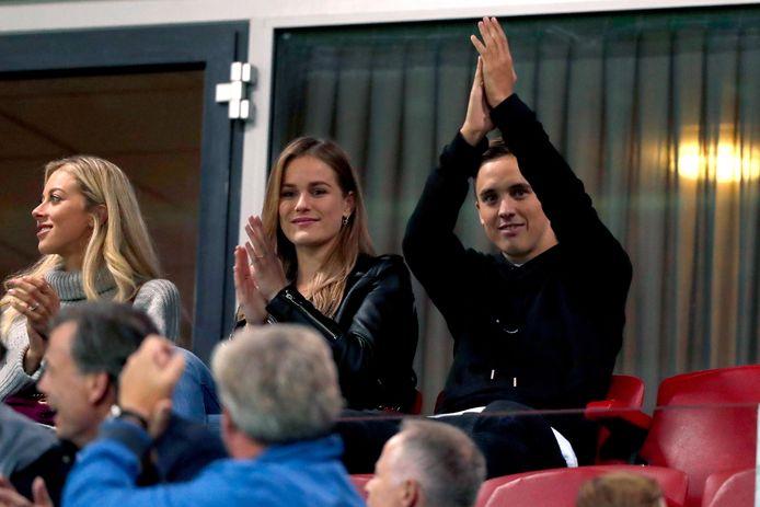 Ryan Thomas was in augustus 2018 blij met een steunbetuiging van de supporters van PEC Zwolle en PSV.