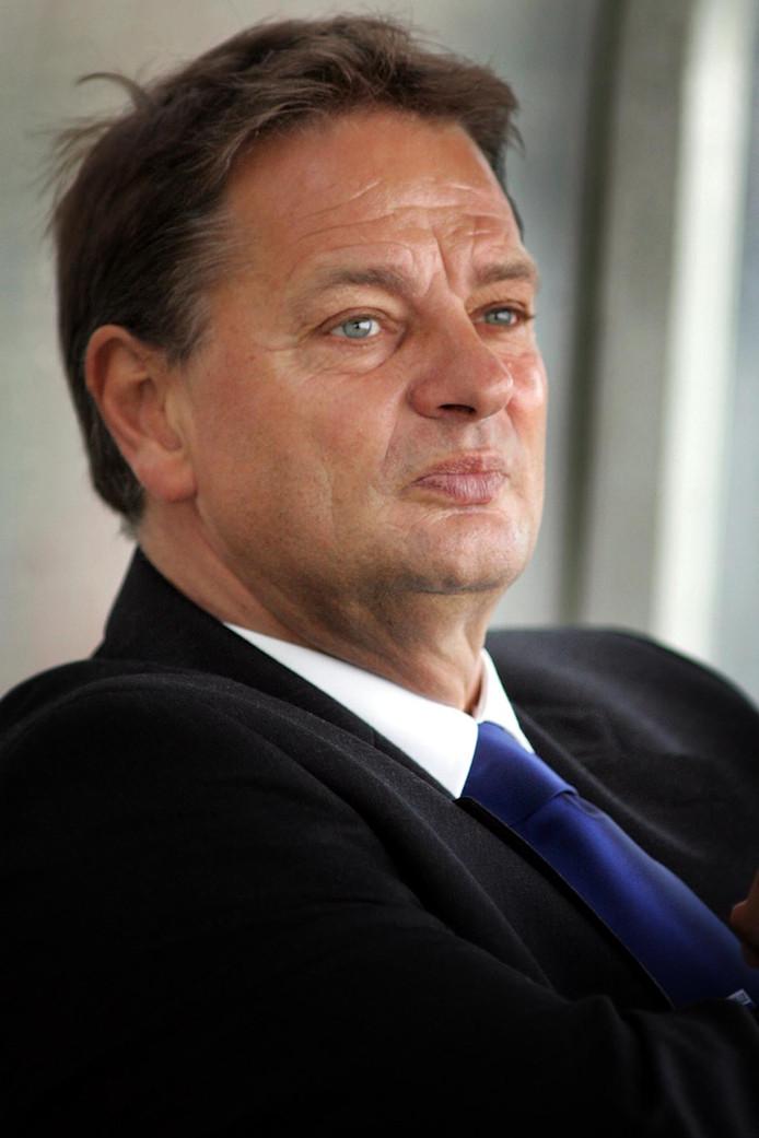 Hennie Spijkerman in 2007 als trainer van PEC Zwolle.