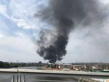 Important incendie à l'usine Renewi à Seraing