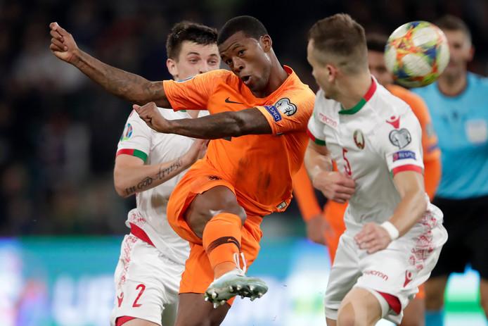 Georginio Wijnaldum maakte beide goals voor Oranje in Minsk.