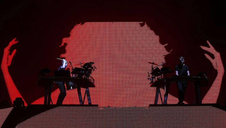 Het Britse elektronische duo Disclosure tijdens een optreden in Portugal. Beeld anp