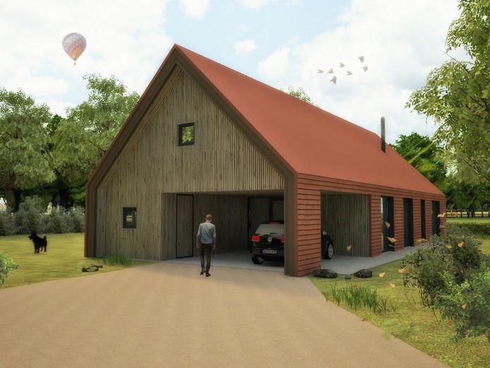 Voorbeeld van een toekomstige woning op Singraven.